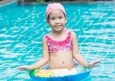Little cute Asian girl on bikini suit Stock Photography