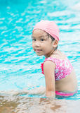 Little cute Asian girl on bikini suit Royalty Free Stock Photos