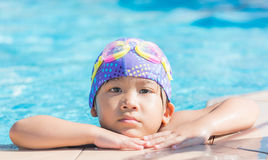 Little cute Asian girl on bikini suit Royalty Free Stock Images