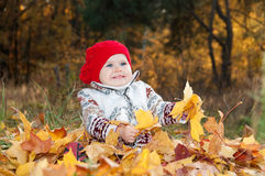 Little cute baby girl. Royalty Free Stock Photos