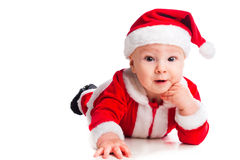 Little cute baby gnome in red Stock Photo