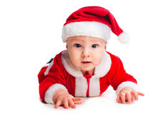 Little cute baby gnome in red Stock Photos