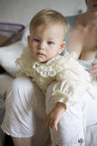 Little cute baby wearing white dress Royalty Free Stock Photo
