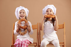 Little cute baker Royalty Free Stock Images