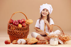 Little cute baker Stock Image
