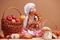 Little cute baker Royalty Free Stock Photo