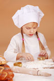 Little cute baker Stock Photos