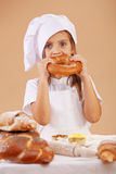 Little cute baker Stock Images