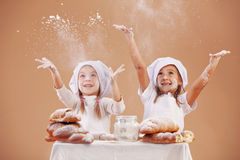 Little cute bakers Stock Images