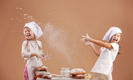 Little cute bakers Royalty Free Stock Image