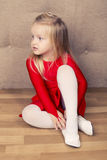 Little cute ballerina girl Royalty Free Stock Photos