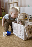 Little cute blond boy Royalty Free Stock Images