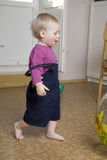 Little cute blond boy one years old Stock Photography