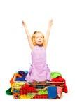 Little fashion maniac girl Stock Image