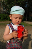 Little cute boy. The little cute boy playing at playground Royalty Free Stock Photo