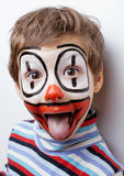 Little cute boy with facepaint like clown Royalty Free Stock Photography