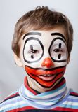 Little cute boy with facepaint like clown, Royalty Free Stock Photo