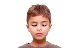 Little cute boy with facial expression Royalty Free Stock Image