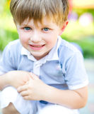 Little  cute boy outdoor shoot Stock Images