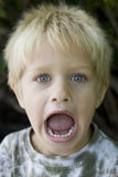 Little cute boy shouting Stock Photo