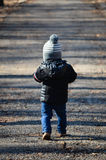Little cute boy walking Royalty Free Stock Photos