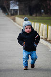 Little cute boy walking Royalty Free Stock Photo