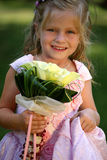 Little cute bridesmaid royalty free stock images