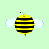 Little Cute Cartoon Bee. Vector Illustration for Kids royalty free illustration
