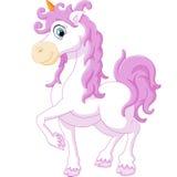 Little cute cartoon fantasy unicorn Stock Photography
