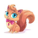 Little cute cartoon fluffy kitten. Stock Photo