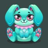 Little cute cartoon sitting bunny stock illustration