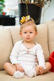 Little cute child girl at home Royalty Free Stock Photo