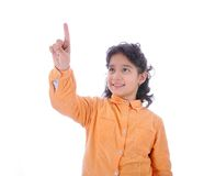 Little cute child pressing digital Royalty Free Stock Photos