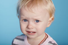 Little cute child with tears on face Royalty Free Stock Photography