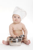 Little cute cook on white background Stock Photo