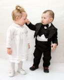 Little cute couple Royalty Free Stock Photography