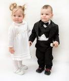Little cute couple Stock Photo