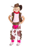 Little cute cowgirl Stock Photography