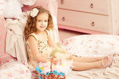 Little cute easer girl Royalty Free Stock Image