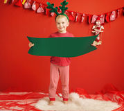 Little cute elf in Christmas mood Stock Photography