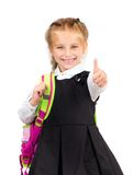 Little cute girl with a backpack Royalty Free Stock Image
