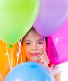 Little cute girl with balloons Stock Photography