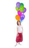 Little cute girl with balloons Royalty Free Stock Photography