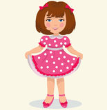 Little cute girl. In a beautiful dress Stock Images
