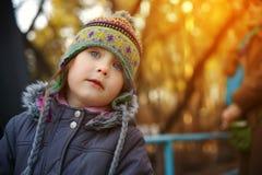 Little cute girl in cap Stock Photo
