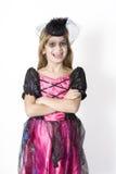 Little cute girl in carnival fancy dress Stock Photography
