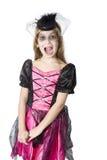 Little cute girl in carnival fancy dress Stock Photo