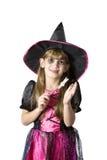 Little cute girl in carnival fancy dress Royalty Free Stock Photo