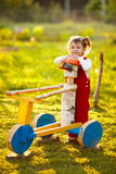 Little cute girl in the country Royalty Free Stock Images