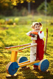 Little cute girl in the country Stock Images